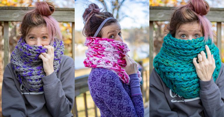 Free Crochet-a-long: XL Chunky Crochet Cowl Tutorial!