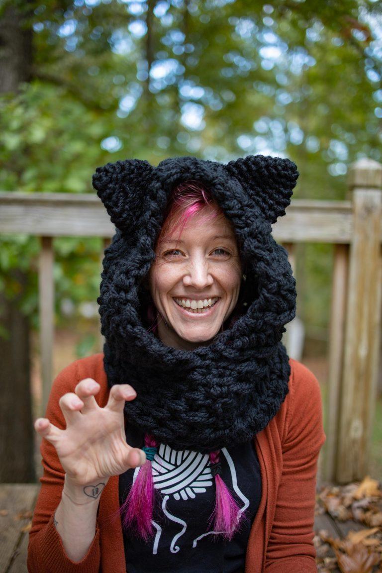 Halloween Cat Hood Crochet Pattern