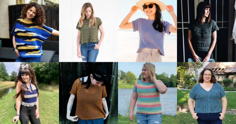 Crochet Pattern Round Up: Summer Tees and Tanks!